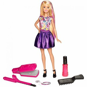 バービーBarbie Crimp & Curl Doll, Age Range: 5Y+ Color-change hair and a set of realistic tools allow youn