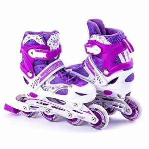 インラインスケートKids Adjustable Inline Skates Roller Blade Scale Sports Outdoor Durable Perfect Fir