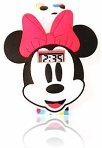 【当店1年保証】ディズニーMinnie Mouse Flashing Lights LCD Watch