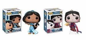 ディズニープリンセスFunko POP Disney Princess Jasmine and Mulan Toy Action Figure - 2 POP BUNDLE