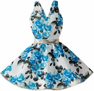 バービーBarbie Fashion Dress - Blue Floral Dress