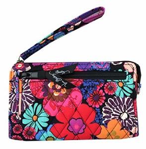 ヴェラブラッドリーVera Bradley Front Zip Wristlet (One size, Floral fiesta)