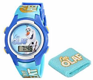 【当店1年保証】ディズニーDisney Kids' FNF005T Olaf Digital Watch with Wristband Gift Set