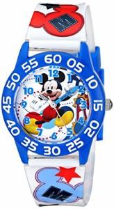 【当店1年保証】ディズニーDisney Kids' W001659 Mickey Mouse Plastic Watch, Printed Band