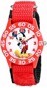 【当店1年保証】ディズニーDisney Kids' W001657 Mickey Mouse Analog Red Watch