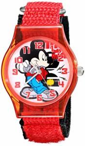 【当店1年保証】ディズニーDisney Kids' W001689 Mickey Mouse Analog Red Watch