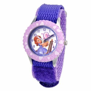 "【当店1年保証】ディズニーDisney Kids' W001067 ""Sofia"" Stainless Steel Time Teacher Watch"