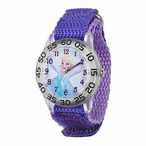【当店1年保証】ディズニーDisney Kids' W001791 Elsa Time Teacher Watch with Purple Band