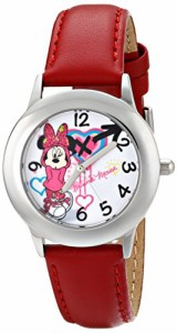 【当店1年保証】ディズニーDisney Kids' W001063 Minnie Mouse Stainless Steel Purple Watch