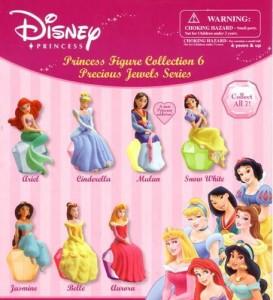 ディズニープリンセスPrincess Precious Figure ser.6 Capsule Toys Set of 7 vending toys