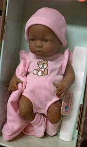 ジェーシートイズMini La Newborn 9.5 Inch African American Baby Doll - Collector Edition