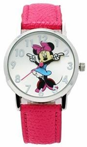 【当店1年保証】ディズニーDisney #MIN004 Kid's Minnie Mouse Pink Strap Analog Watch