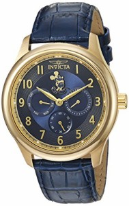 【当店1年保証】インヴィクタInvicta Men's 'Disney Limited Edition' Quartz Gold-Tone and Leather