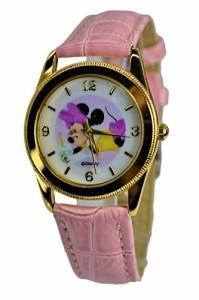 """【当店1年保証】ディズニーDisney Minnie Mouse Watch For Kids .Large Analog Dial. 9""""L Band."""
