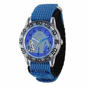 【当店1年保証】ディズニーDisney Kids' W001787 Olaf Time Teacher Watch with Blue Band