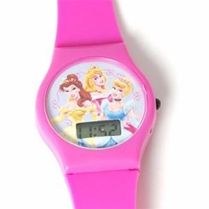 【当店1年保証】ディズニーDisney Princess Digital Hot Pink Strap Girls Watch