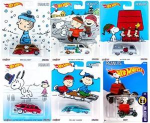 ホットウィールPeanuts Hot Wheels Snoopy Charlie Brown Christmas Set Collectible Pop Culture Car - 2016