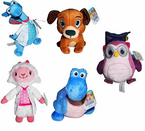 ドックはおもちゃドクターDisney Doc McStuffins Plush 5 Pc Set Dr Coats Lambie Stuffy Findo Rexie Pr