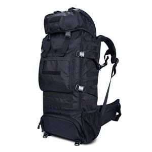 85e5de9e553f ミリタリーバックパックGonex Tactical Military Molle Backpack 70L, Oxford Waterproof Hiking  Camping