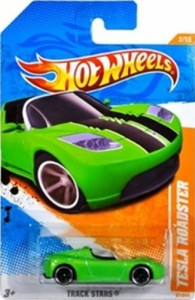 ホットウィールHot Wheels 2011, Tesla Roadster 67/244. Track Stars. 1:64 Scale.