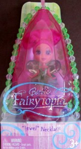 "バービーBarbie Fairytopia FAIRY ""JEWEL"" Necklace & Ring w Case TORI (2005)"