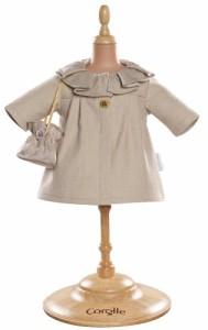 """コロールCorolle Mademoiselle 14"""" Ivory Coat and Bag"""