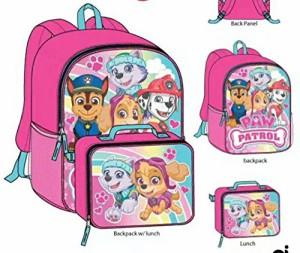 アバローのプリンセス エレナPaw Patrol Girls School Backpack Bookbag Lunch Box Combo Set
