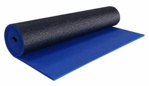 """ヨガマットYogaAccessories 1/4"""" Thick High-Density Deluxe Non-Slip Exercise Pilates & Yoga Mat, Two Tone -"""