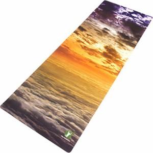ヨガマットNon Slip Hot Yoga Mat Combo 2 in 1 Best for Bikram Pilates Yoga - Washable 3 Exclusive Printed