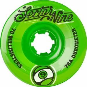 ウィールSector 9 Top Shelf Nine Balls Skateboard Wheel, Green, 70mm 78A
