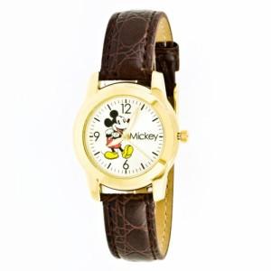 【当店1年保証】ディズニーDisney Women's MCK612 Mickey Mouse Brown Strap Watch