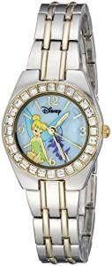 【当店1年保証】ディズニーDisney Women's TK2008 Tinkerbell Two-Tone Bracelet Watch