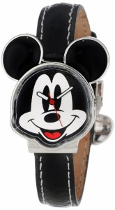 【当店1年保証】ディズニーDisney Mickey Mouse Women's MCK001B Black Leather Strap Watch
