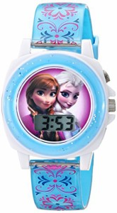 【当店1年保証】ディズニーDisney Kids' FZN3588 Frozen Anna and Elsa Blue Watch