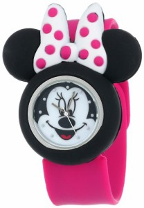 【当店1年保証】ディズニーDisney Kids' MN1097 Minnie Mouse Watch with Pink Rubber Band