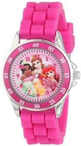 【当店1年保証】ディズニーDisney Kids' PN1048 Time Teacher Watch with Pink Rubber Band
