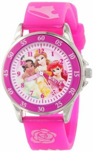 【当店1年保証】ディズニーDisney Kids' PN1051 Disney Princess Watch with Pink Band