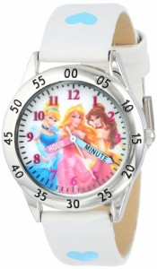 【当店1年保証】ディズニーDisney Kids' PN1172 Princess Watch with White Band