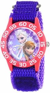 【当店1年保証】ディズニーDisney Kids' W001789 Frozen Elsa and Anna Watch, Purple Nylon Band