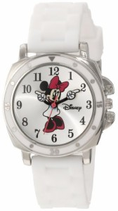 【当店1年保証】ディズニーDisney Kids' MN1064 Minnie Mouse Watch with White Rubber Band