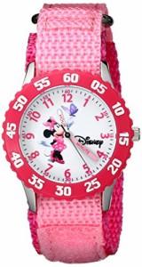 【当店1年保証】ディズニーDisney Girls' W000025 Minnie Mouse Watch with Pink Nylon Band