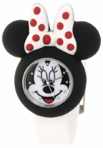 【当店1年保証】ディズニーDisney Kids' MN1139 Minnie Mouse Watch with White Rubber Strap