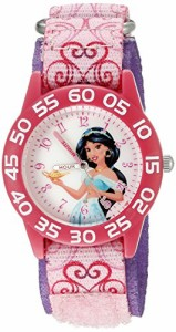 【当店1年保証】ディズニーDisney Kids' W002381 Jasmine Watch with Pink Printed Nylon Band