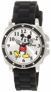 【当店1年保証】ディズニーDisney Kids' MK1080 Mickey Mouse Watch with Black Rubber Strap
