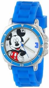 【当店1年保証】ディズニーDisney Kids' MK1266 Watch with Blue Rubber Band