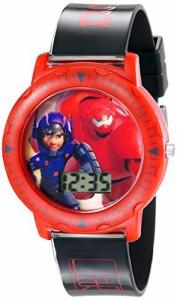 【当店1年保証】ディズニーDisney Kids' BHS3380 Big Hero 6 Watch with Black Plastic Band