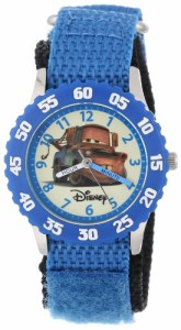 "【当店1年保証】ディズニーDisney Kids' W000083 ""Cars"" Stainless Steel Time Teacher Watch"