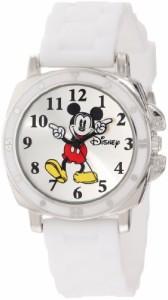 """【当店1年保証】ディズニーDisney Kids' MK1103 """"Mickey Mouse"""" Watch With White Rubber Band"""