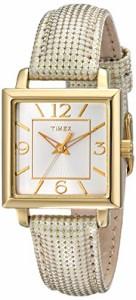 【当店1年保証】タイメックスTimex Women's T2P379 Elevated Classics Gold-Tone Square Watch with M