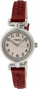 【当店1年保証】タイメックスTimex Women's T2N661 Weekender Petite Silver-Tone Watch with Red Lea